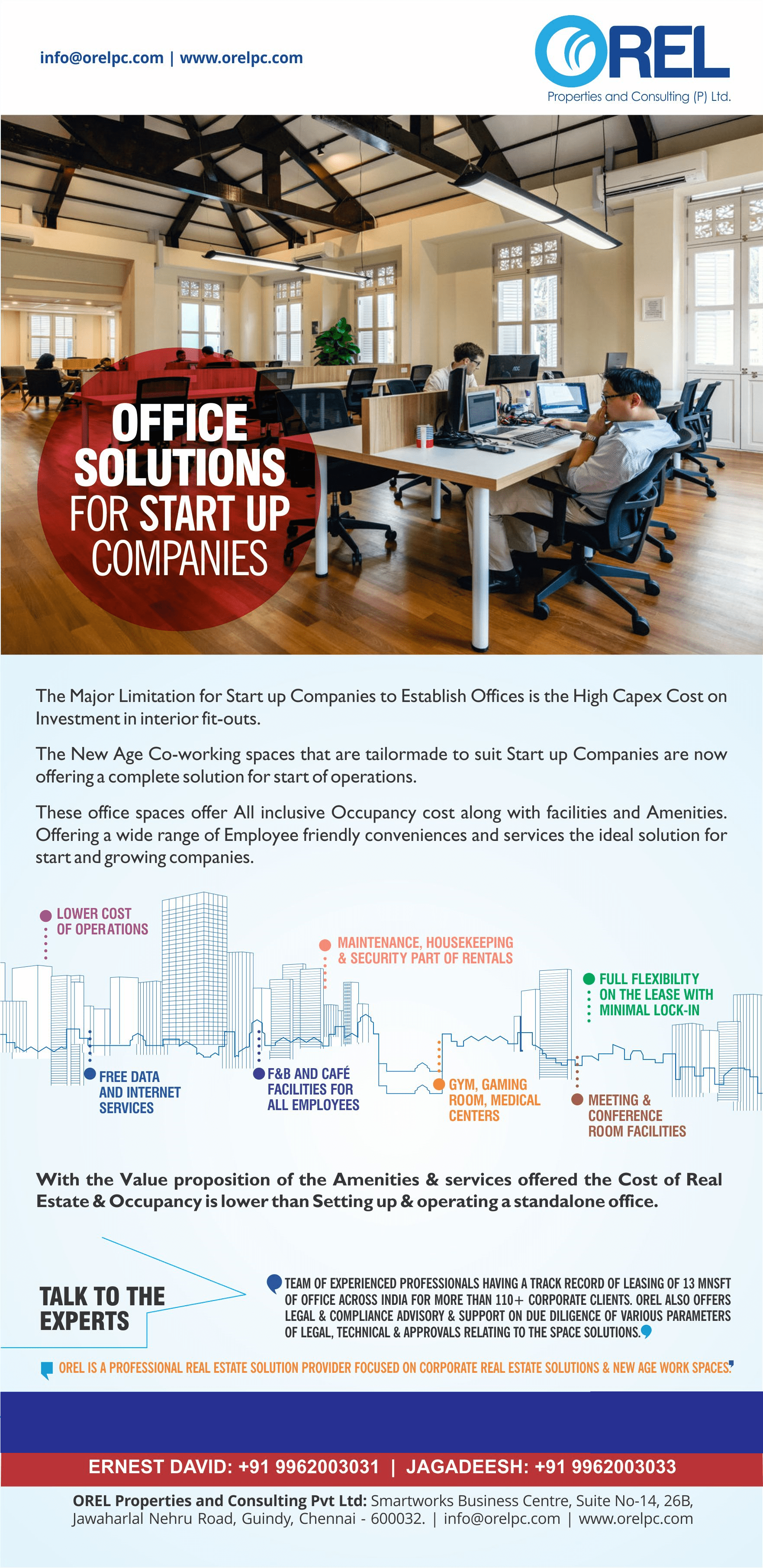 Offices Solutions for Start up Companies